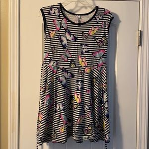 Justice Butterfly dress size 18